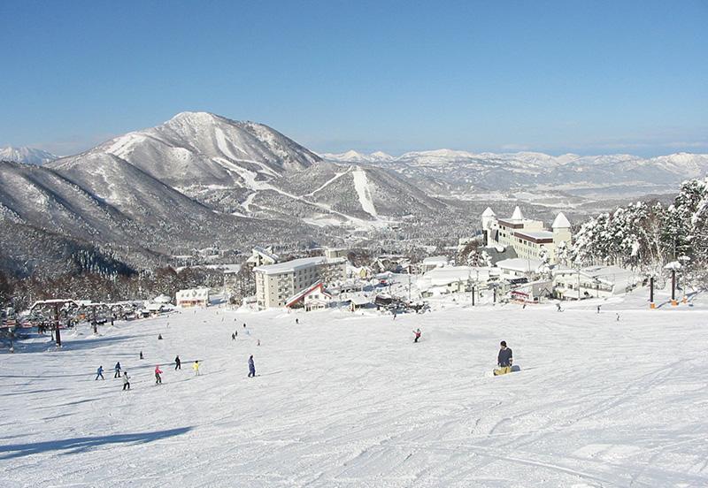 竜王スキーパークのゲレンデ風景