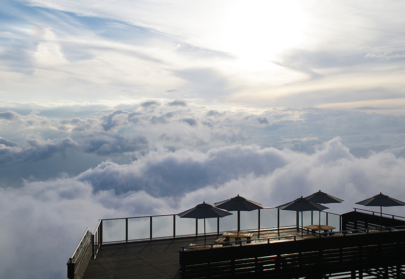 竜王スキーパークのSORA terraceから見える絶景